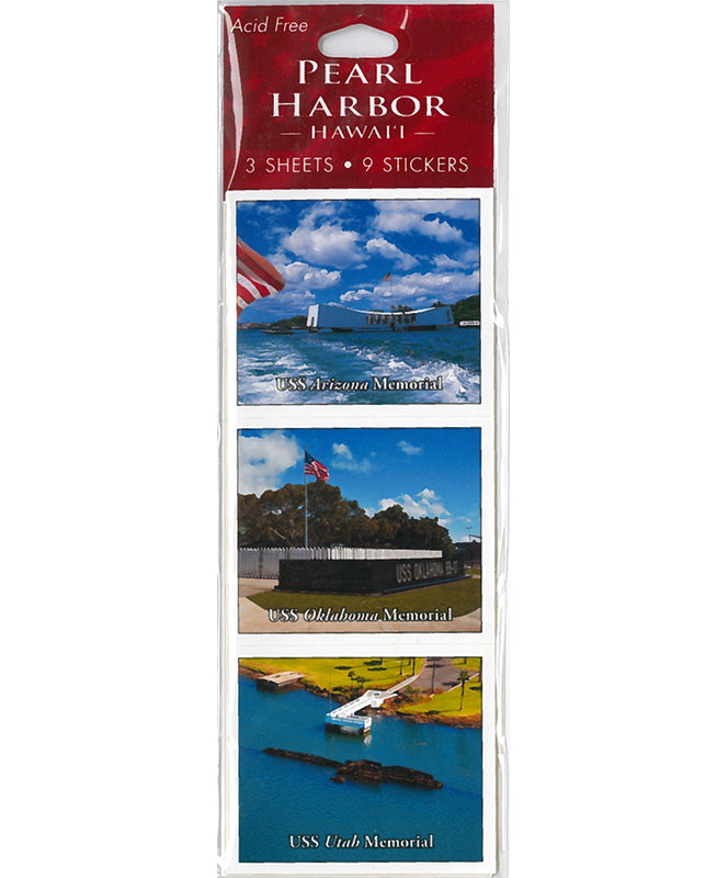 USS Arizona Memorial Acid Free Stickers