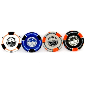 USS Arizona Memorial And Harley-Davidson Poker Chip, Blue And Black