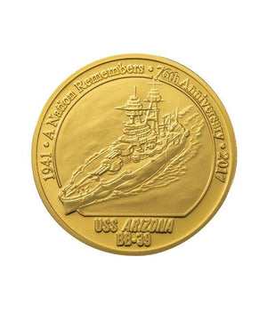 76th Commemorative Pearl Harbor Coin, Merlin Gold