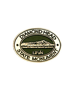 Diamond Head Logo Pin