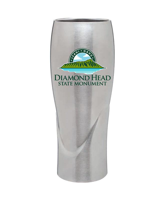 Diamond Head 16 oz Insulated Pilsner, Stainless Steel