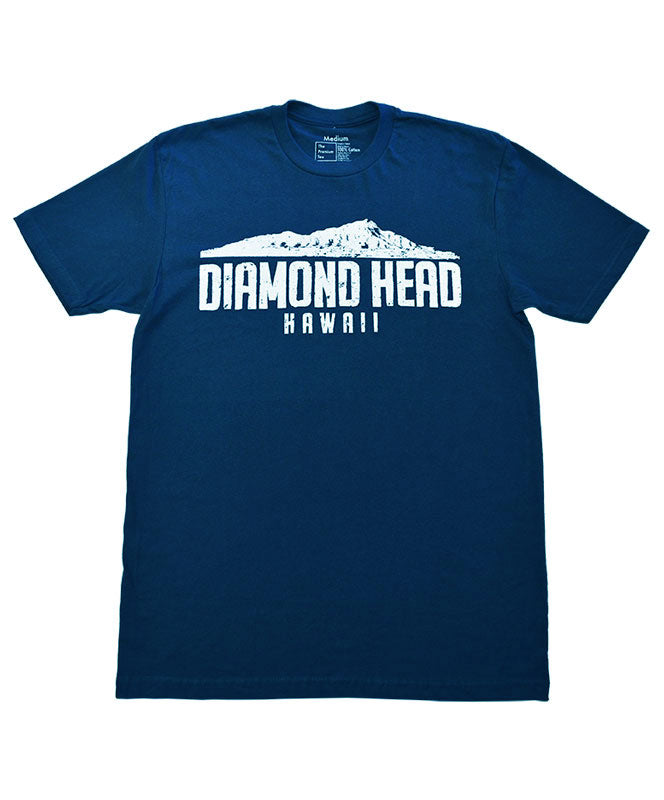 Men's Diamond Head Crater T-shirt, Navy Blue