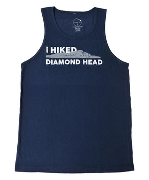 Men's I Hiked Diamond Head Tank Top, Navy