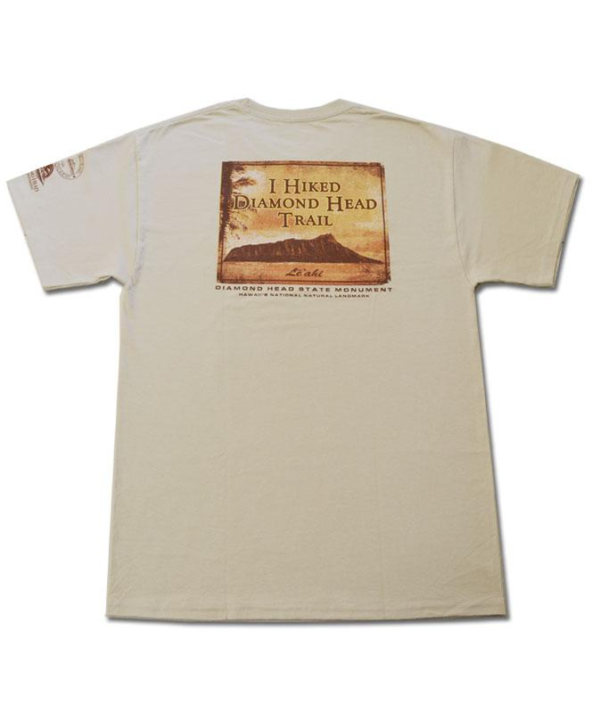 Men's Diamond Head Vintage T-shirt, Sepia