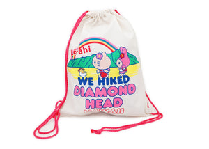 Hello Kitty We Hiked Diamond Head Drawstring Foldable Bag