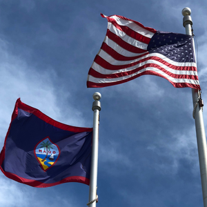 Guam Flag Flown At War In The Pacific National Historical Park (75th Anniv.)