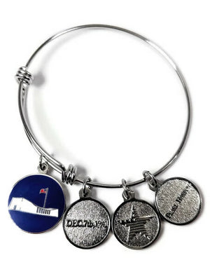 USS Arizona Memorial Four-Charm Bracelet