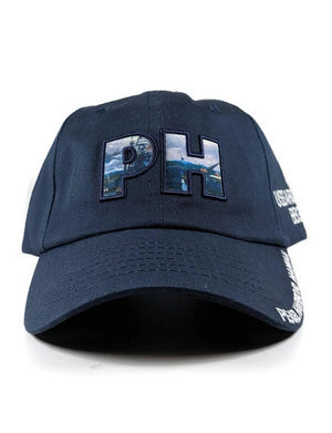 PH Letters Cap, Navy Blue