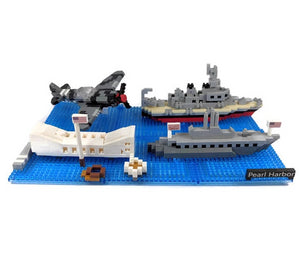 Pearl Harbor Sites Mini Building Block Set