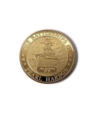 USS Arizona Commemorative Coin Gold Clad