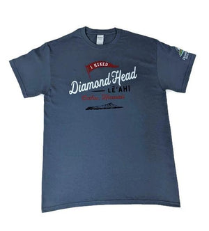 Men's I Hiked Diamond Head T-Shirt, Indigo Blue