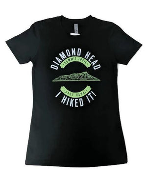 Women's I Hiked It Diamond Head Shirt, Black