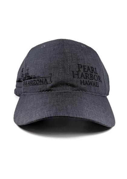 USS Arizona Outline Hat, Charcoal