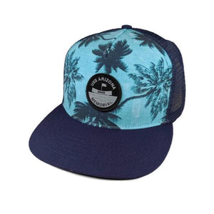 USS Arizona Memorial Aloha Palm Tree Trucker Cap