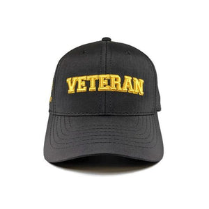 Veteran Pearl Harbor Logo Black And Gold Cap