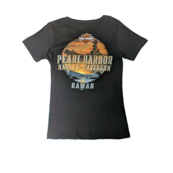 Women's Harley-Davidson Remember Pearl Harbor T-Shirt, Black
