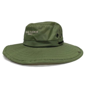 USS Arizona Logo Bucket Hat, Army Green