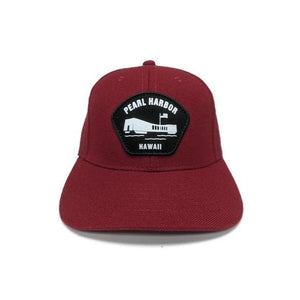 Pearl Harbor Memorial Patch Hat, Maroon