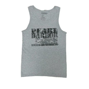 Men's Pearl Harbor Remember Honor Understand Tank Top, Grey