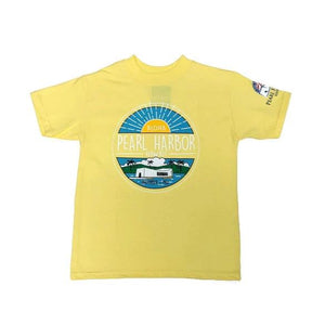 Kid's Aloha Pearl Harbor Shirt, Sunburst Yellow