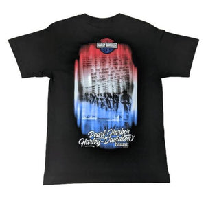 Pearl Harbor Harley-Davidson Memorial Wall T-Shirt, Black