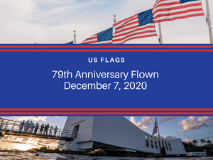5x8 December 7th USA Flag Flown On Pearl Harbor National Memorial