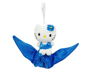 "Hello Kitty on Tsuru Crane 4"" Plush Toy - Blue"
