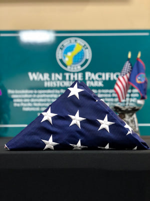USA Flag Flown At War In The Pacific National Historical Park (75th Anniversary)