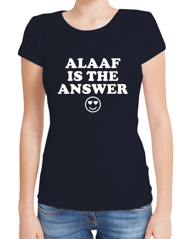 "Gaffel Sprücheshirt ""ALAAF IS THE ANSWER"", blau"
