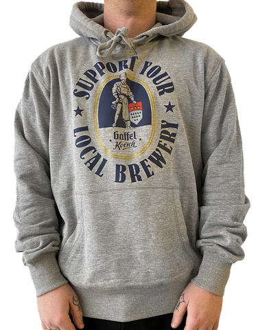 "HOODIE ""SUPPORT YOUR LOCAL BREWERY"""