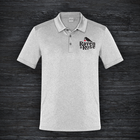 Raven and Rose Embroided Polo Shirt Light Grey
