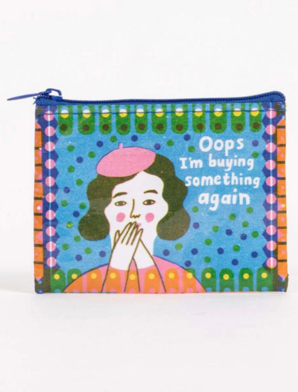 Blue Q Oops I'm buying again Coin Purse