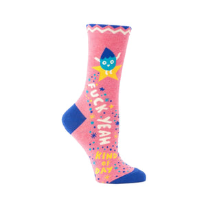 Blue Q Yeah Women's Crew Socks