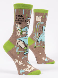 Blue Q Darkside Women's Crew Socks