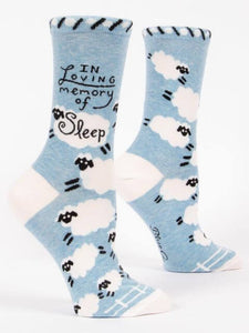 Blue Q In Loving Memory of Sleep Women's Crew Socks