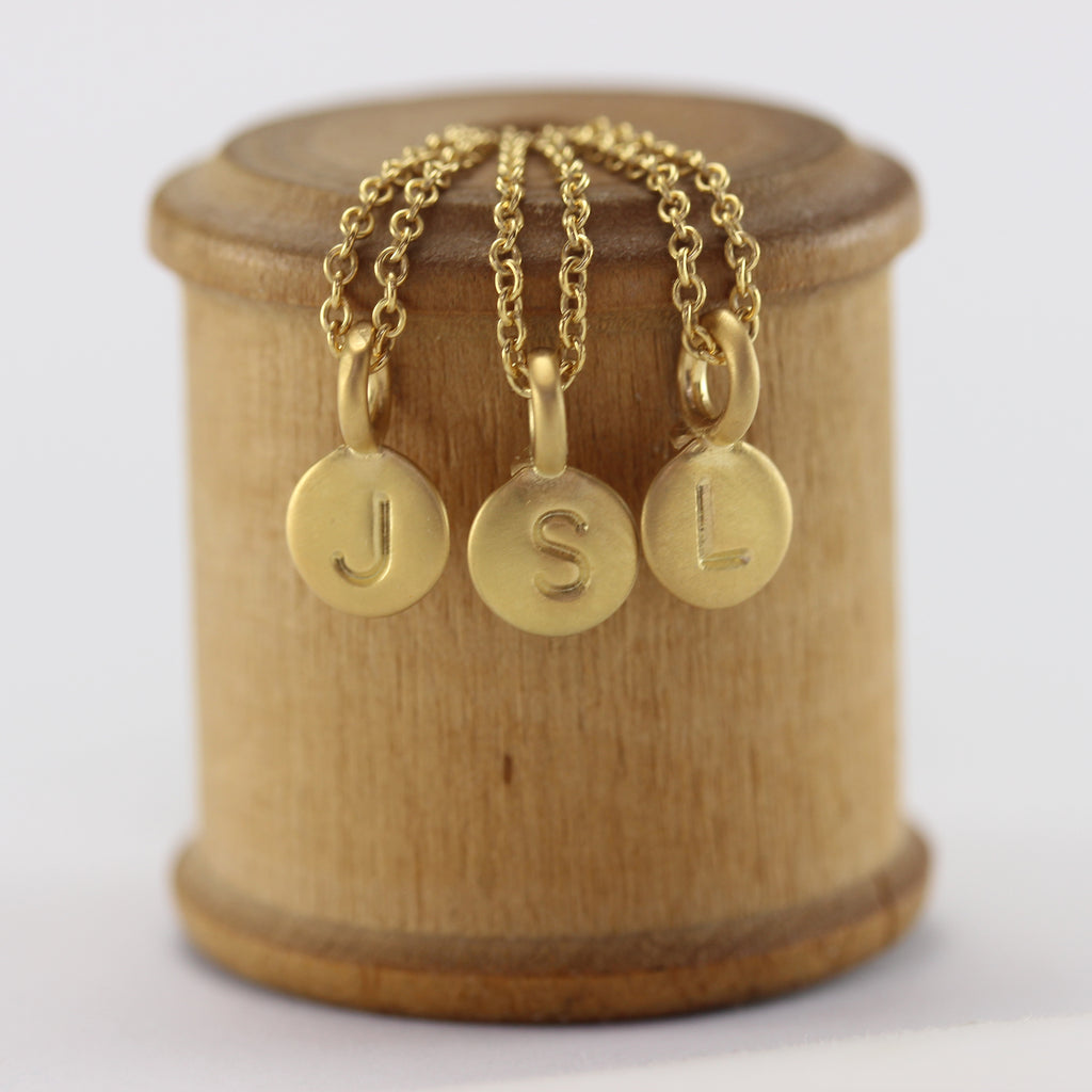 Marmalade Small Gold Initial Pendants