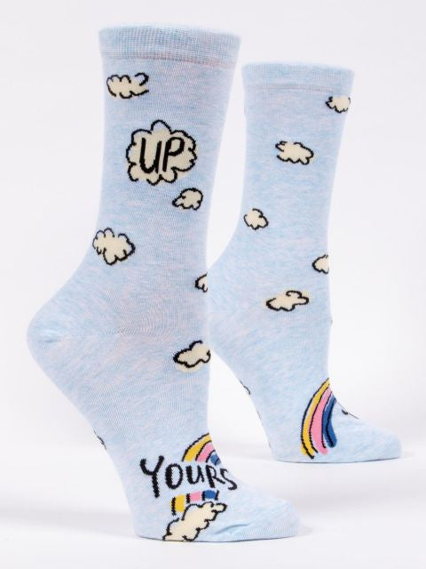 Blue Q Up Yours Women's Crew Socks