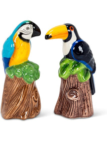 Salt & Pepper Shaker Parrot and Toucan