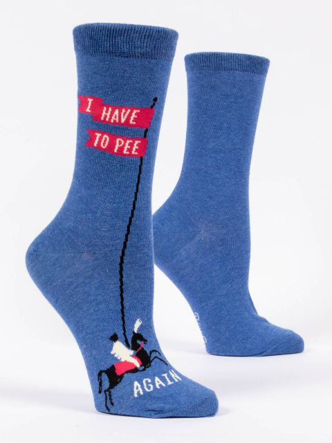 Blue Q Women's I have to Pee sock