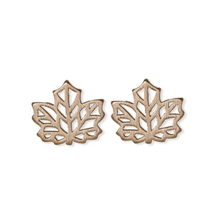 jj+rr Maple Leaf Origami Earring