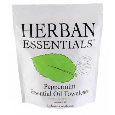 Herban Essential wipes Peppermint