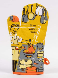 Blue Q Oven Mitt Man With a Pan