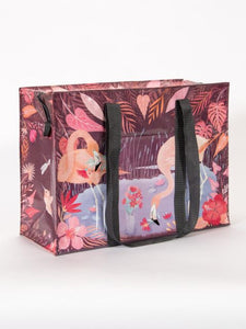Blue Q Shoulder Tote Flamingo