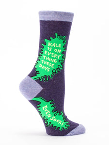 Blue Q Kale Women's Crew Socks