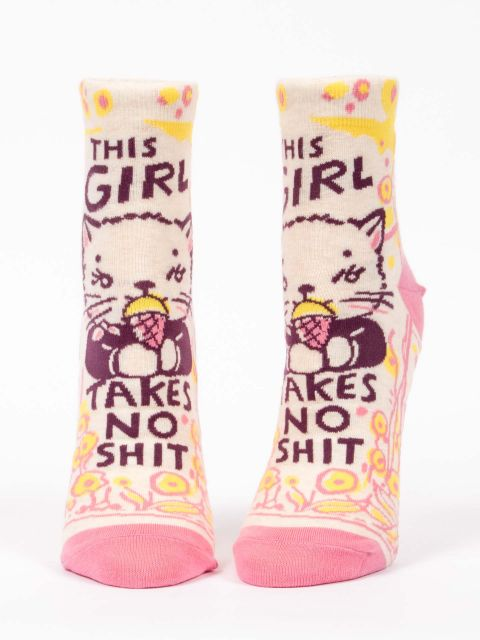 Blue Q Women's This Girl Crew Socks