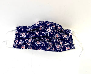 Floral Cotton Pleated Face Mask