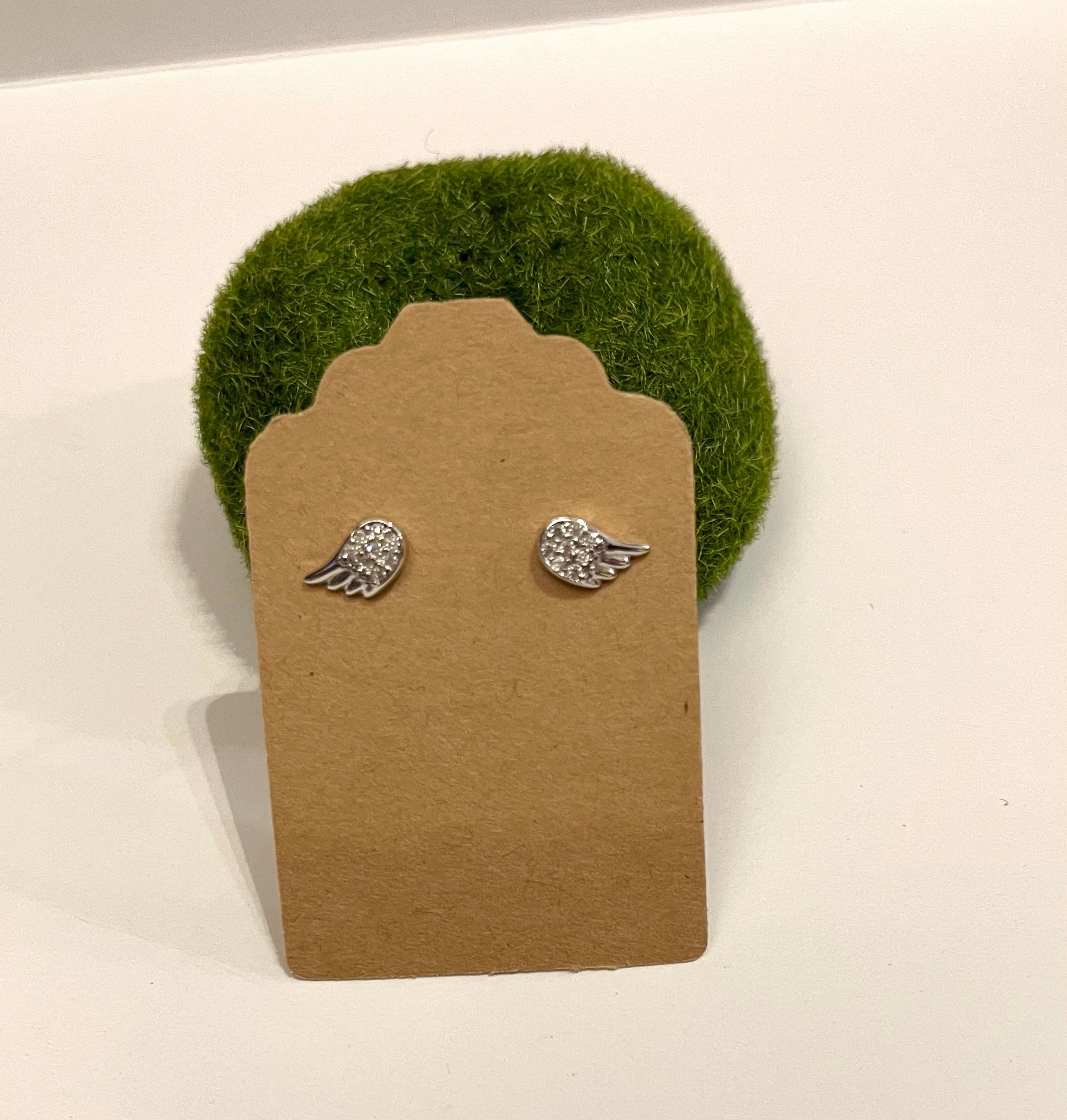Silver Wings Stud Earrings