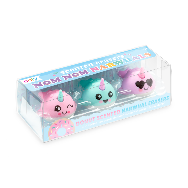 Ooly Scented Narwal Erasers