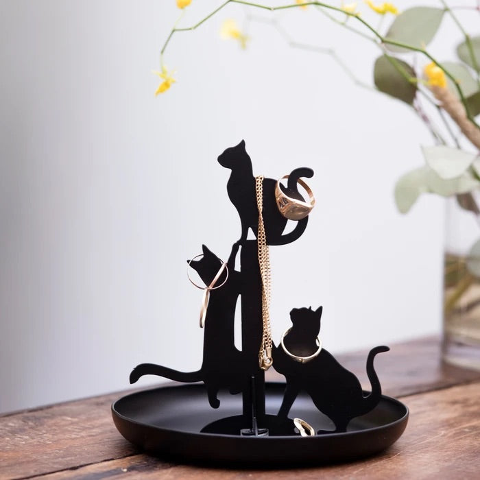 Kikkerland Cat Jewelery Stand