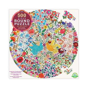 Eeboo Blue Bird, Yellow Bird Puzzle 500pc